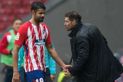 Diego Costa sent off after scoring in Atletico win against Getafe